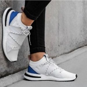 Adidas White + Blue Arkyn Shoes